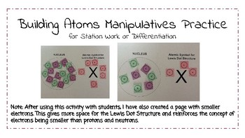 Atoms Differentiation or Stations - Subatomic Particles, Rounding & Vocabulary