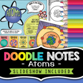Atoms Comic Notes - Visual Doodle Worksheet + PowerPoint Slideshow