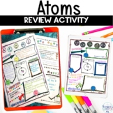 Atoms Proton Neutron Electron Sketch Notes Graphic Organizer Review Activity