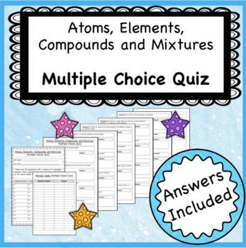 Atoms Elements Compounds Mixtures Worksheets & Teaching ...