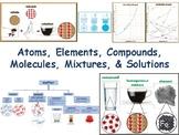 Atoms Elements Molecules Compounds Mixtures Solutions Lesson Flash Cards 2019/20