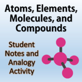 Atoms, Elements, Molecules, and Compounds - Notes and Analogy Activity