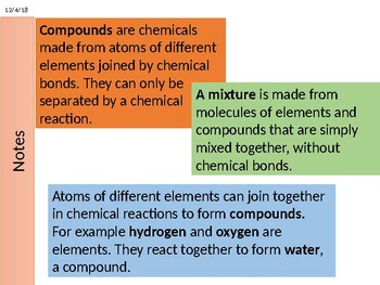 Atoms, Elements and Compounds