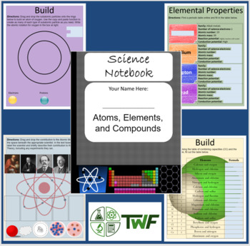 Atoms, Elements, and Compounds Unit - Digital Interactive Notebook + 5 Lessons