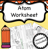 Atoms, Elements and Compounds Worksheet