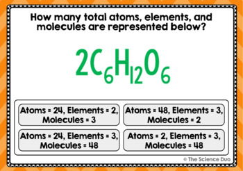 Atoms, Elements, and Molecules Task Cards - Digital Boom Cards™