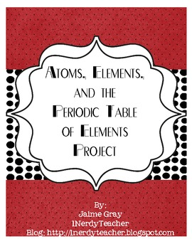 Atoms, Elements, and Periodic Table Project