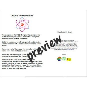 Atoms Elements And The Periodic Table By Baileys Corner Tpt