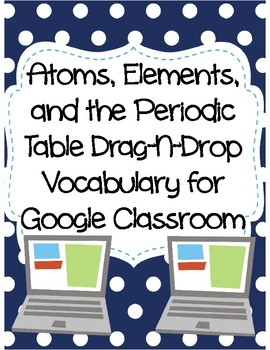 Atoms, Elements, and the Periodic Table Drag-n-Drop Vocab for Google Classroom