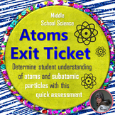Atoms and Subatomic Particles Exit Ticket