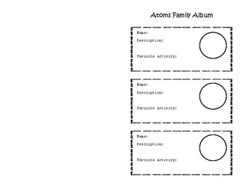 The Atoms Family Worksheets & Teaching Resources | TpT