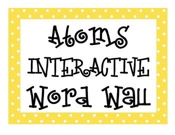 Atoms INTERACTIVE Word Wall