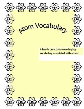 Atoms - Key Vocabulary Sorting Cards