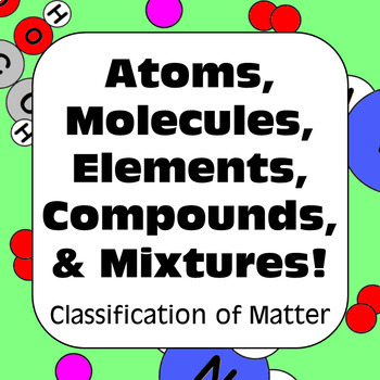 Elements Compounds And Mixtures Graphic Organizer & Worksheets | TpT