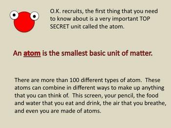 Atoms, Molecules, Elements, Compounds, & Mixtures PowerPoint Lessons