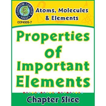 Atoms, Molecules & Elements: Properties of Important Eleme