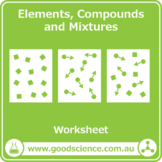 Elements, Compounds and Mixtures [Worksheet]
