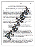 Atoms, Molecules, Elements, and Compounds Worksheet