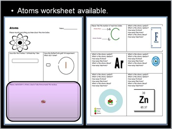 Atoms, Molecules, Periodic Table of the Elements Unit