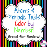 Atoms & Periodic Table Color by Number