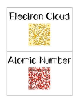Atoms QR Codes Word Wall