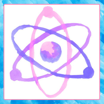 Atoms / Science Handpainted Watercolor Clip Art Set Commercial Use