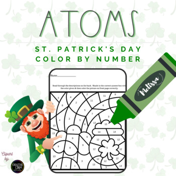 Atoms St. Patrick's Day Color By Number