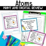 Atoms Task Card Review Activity