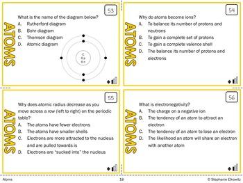 Atoms Task Cards
