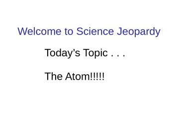 Atoms Test Review PowerPoint