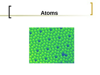 Atoms: They're Everywhere!