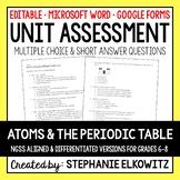 Atoms Unit Exam | Editable | Printable | Google Forms