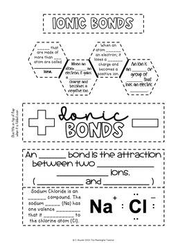 Atoms and Bonding Interactive Notebook Activities