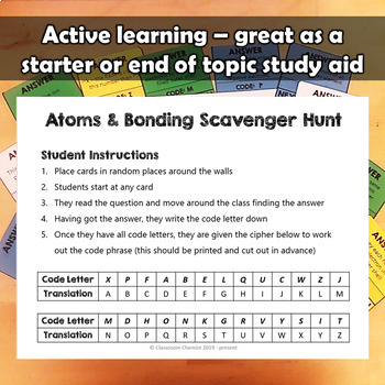 Atoms and Bonding Treasure Hunt Activity