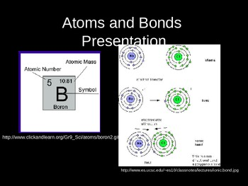 Atoms and Bonds Powerpoint presentation lecture