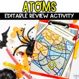 Atoms and Elements Halloween Color by Number Editable Revi