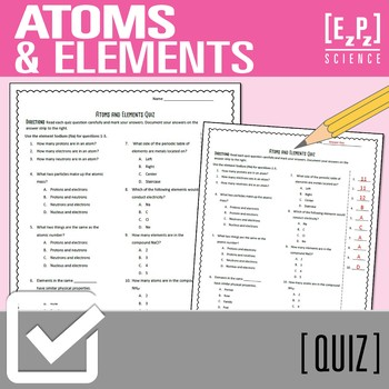 Atoms and Elements Quiz