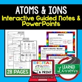 Atoms and Ions Guided Notes and PowerPoints NGSS, Google a