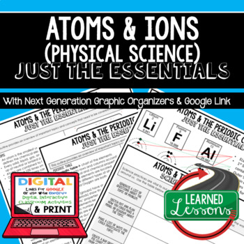 Atoms and Ions Just the Essentials Content Outlines, Next Generation Science