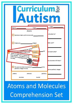 Atoms and Molecules Comprehension, Chemistry, Autism, Special Education