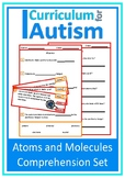 Atoms and Molecules Comprehension Chemistry Autism Special Education