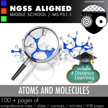 Atoms and Molecules Middle School Science NGSS MS-PS1-1 Aligned Pack