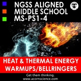 Middle School NGSS Heat and Thermal Energy MS-PS1-4 Bellringers Warmups