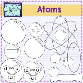 Atoms and Molecules clipart {Science clipart}