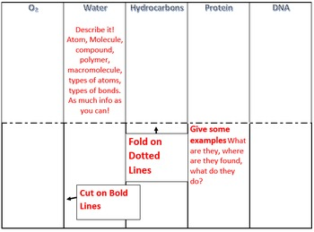 Atoms and Molecules foldable for interactive notebooks