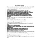 Atoms and Periodic Table Test Checklist