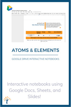 Atoms and Subatomic Particles Interactive Google Drive Notebook FREE