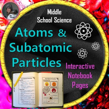 Atoms and Subatomic Particles Interactive Notebook Pages