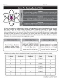 Atoms and Subatomic Particles Packet
