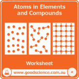 Arrangement of Atoms in Elements and Compounds [Worksheet]